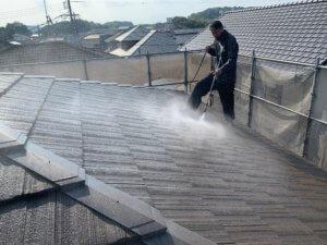高圧洗浄外壁屋根塗装工事