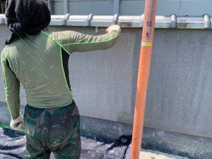 酒津地区 塀 車庫塗装工事