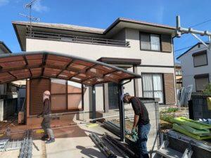 I様 外壁屋根塗装工事。